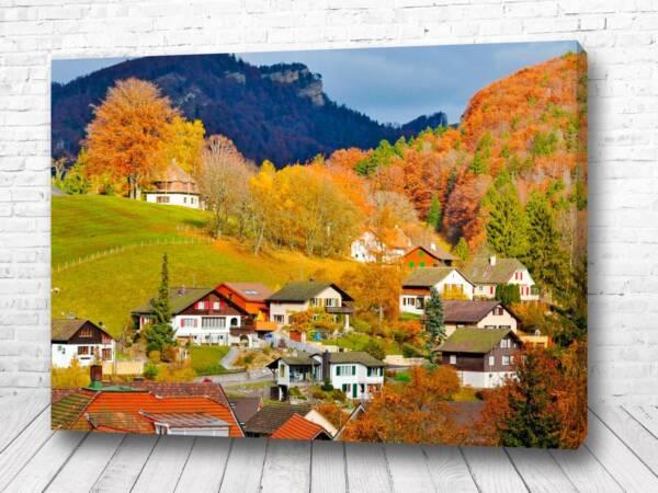 Постер Осень в селе