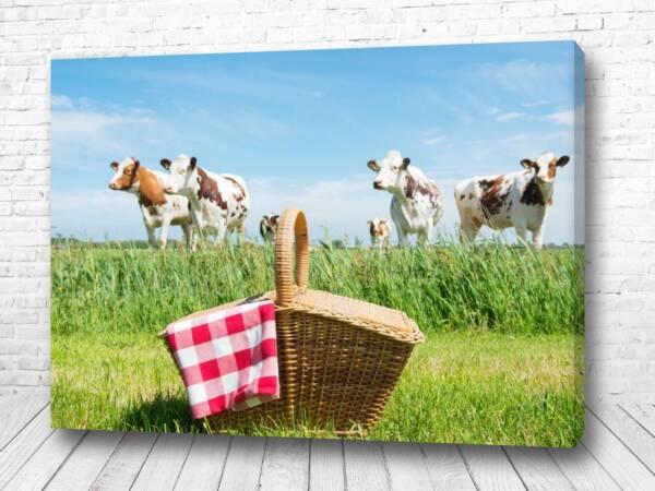 Постер Пикник с коровками