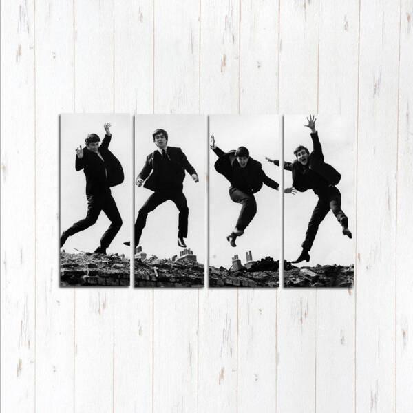 Модульная картина Битлз прыжок