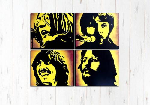 Модульная картина Битлз желтый арт