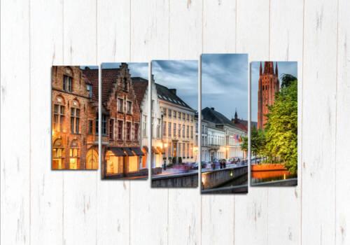 Модульная картина Брюгге город