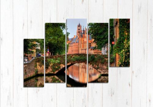 Модульная картина Брюгге мост