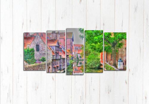Модульная картина Брюгге краски