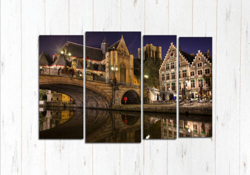 Модульная картина Брюгге городской мост