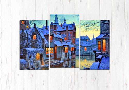 Модульная картина Прекрасный зимний Брюгге