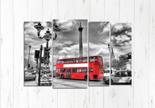 Модульная картина Автобус на улице города