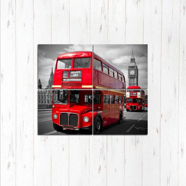 Модульная картина Автобусы в Лондоне