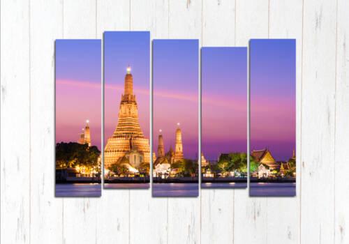 Модульная картина Закат в Чиангмай