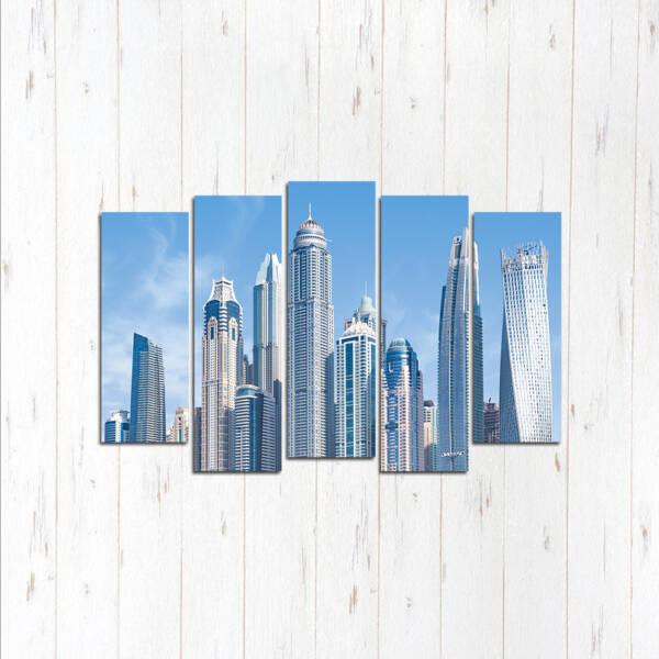 Модульная картина Дубай высотки