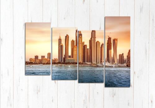 Модульная картина Дубай песчаный закат