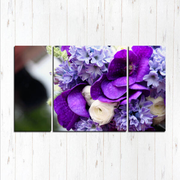 Модульная картина Фиолетовый букетик