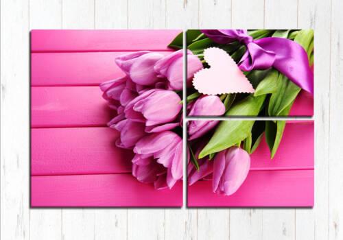 Модульная картина Фиолетовый на розовом
