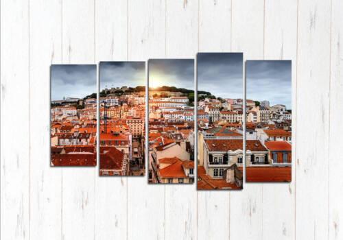 Модульная картина Над улицами Лиссабона