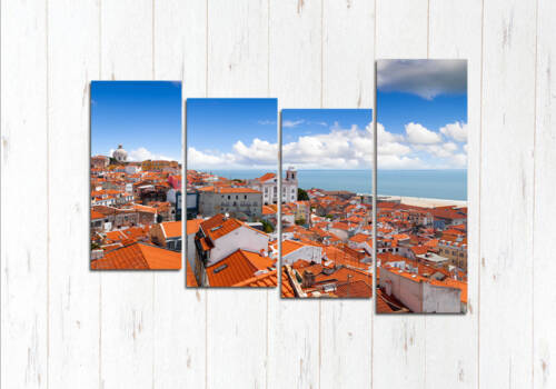 Модульная картина Район Алфама Лиссабон
