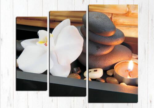 Модульная картина Камни и свечи