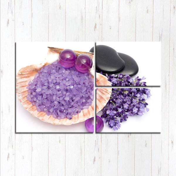 Модульная картина Фиолетовые спа штучки