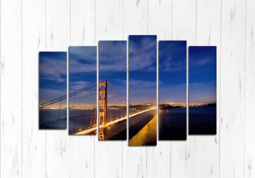 Модульная картина Ночь в Сан Франциско