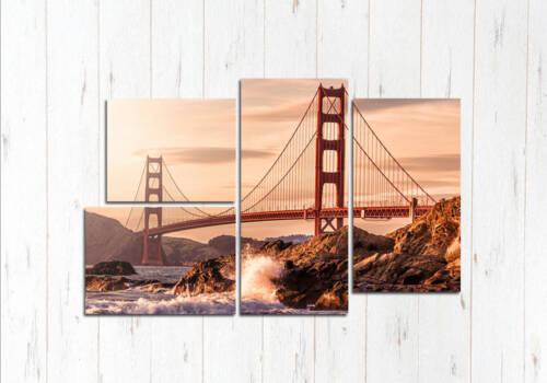 Модульная картина Моста в закате