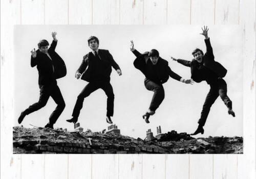 Постер Битлз прыжок