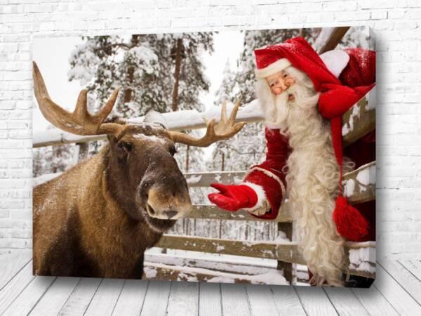Постер Санта с помощником