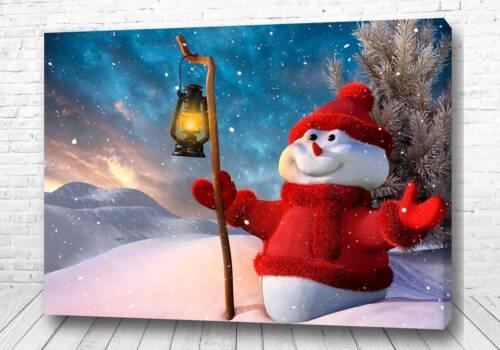 Постер Веселый снеговик