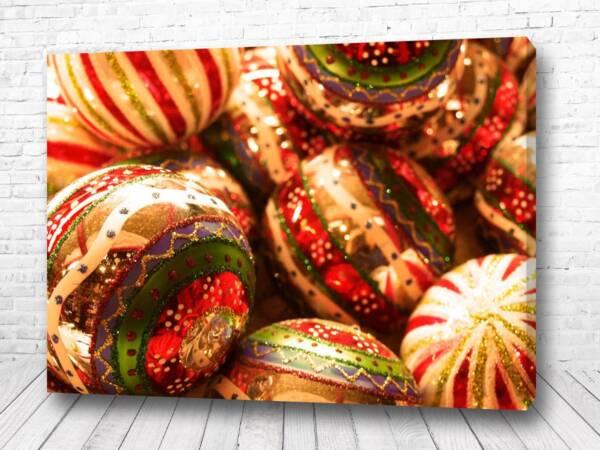 Постер Новогодние шары