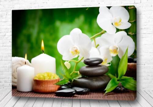 Постер Белая орхидея спа