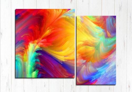 Модульная картина Буря красок