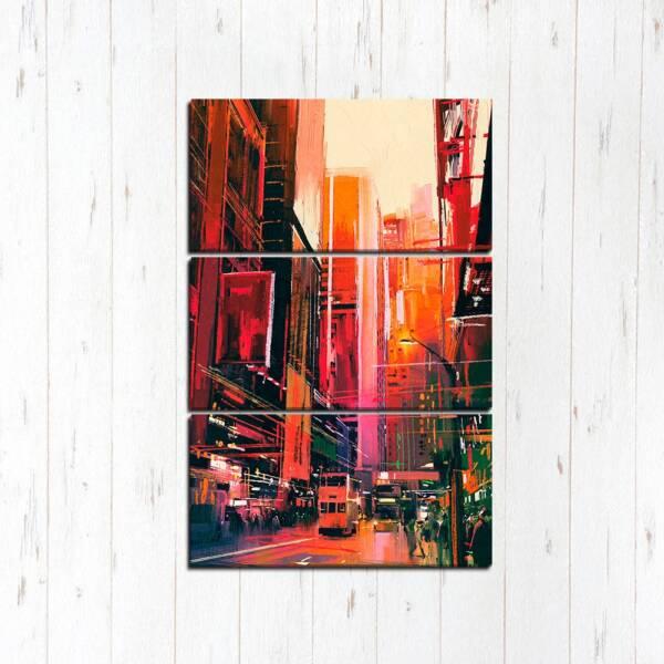 Модульная картина Красный город