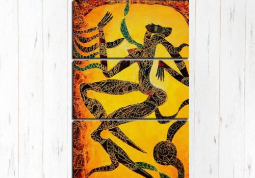 Модульная картина Африканский силуэт