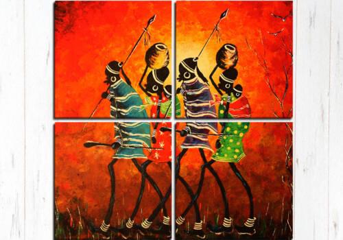 Модульная картина Африканские воины