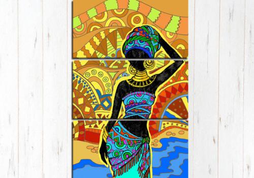 Модульная картина Африканка