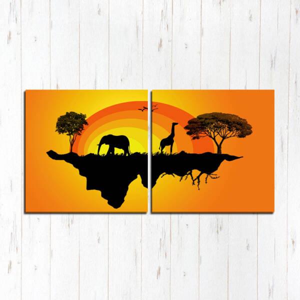 Модульная картина Африканский островок
