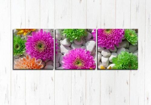 Модульная картина Цветы в камнях