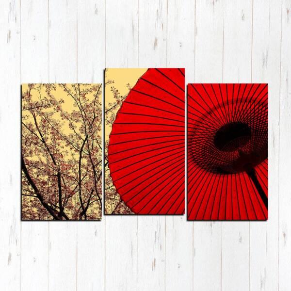 Модульная картина Красный зонт