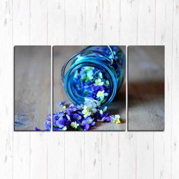 Модульная картина Цветы в банке