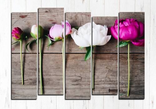 Модульная картина Пять цветков