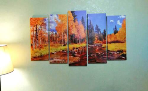 Модульная картина Лес осенью