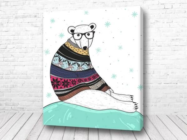 Постер Мишка в свитере