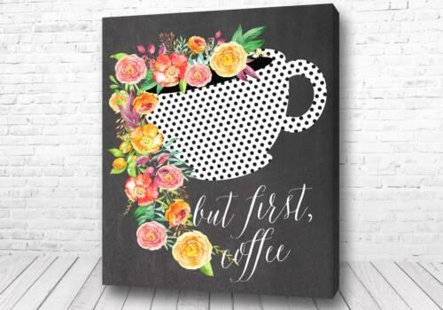Кофе с цветами