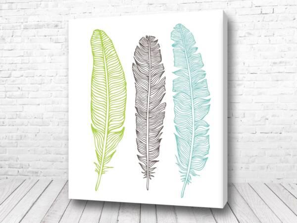 Постер Перья три цвета