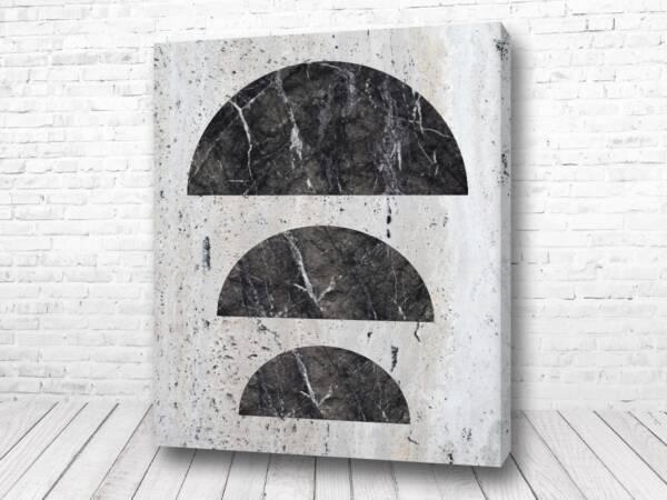 Постер Чёрные полукруги лофт