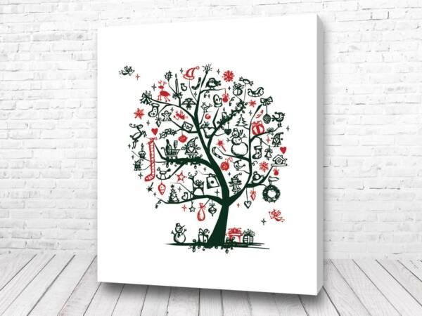 Постер Новогоднее дерево