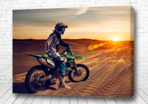 Постер Мотокросс на закате