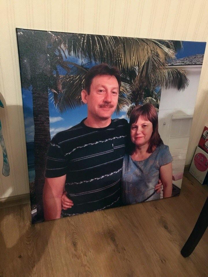 Постер по фотографии для родных на холсте