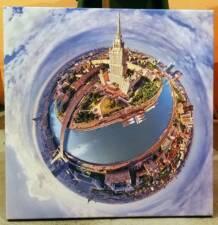 Москва панорама как планета