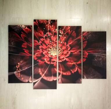 Модульная картина Абстрактный цветок