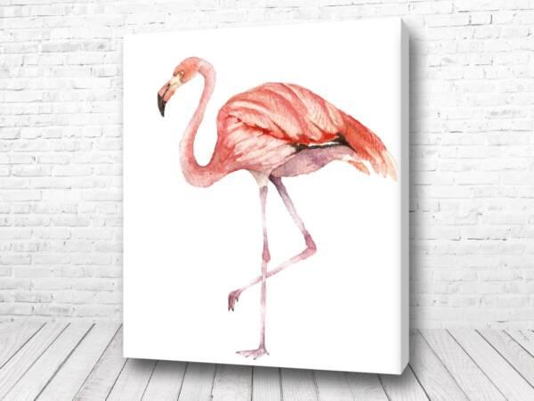Постер Розовый фламинго