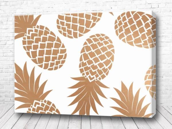 Постер Золотые ананасы