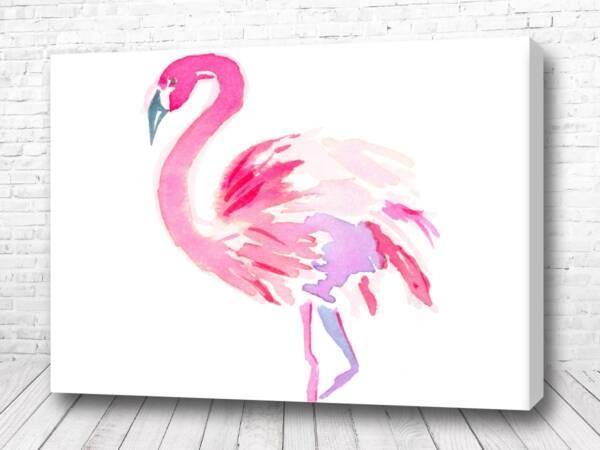 Постер Акварель фламинго